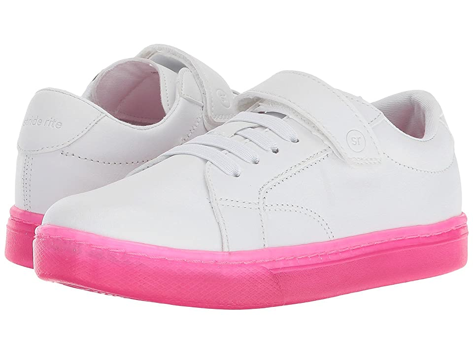 Stride Rite Lighted Ray (Toddler/Little Kid) (White/Pink) Girls Shoes