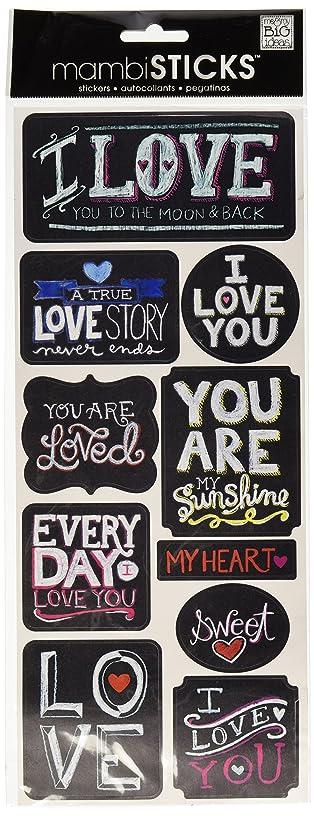 me & my BIG ideas mambiSTICKS Stickers, Love
