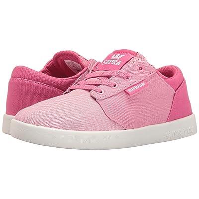 Supra Kids Yorek Low (Little Kid/Big Kid) (Pink Fade/White) Girls Shoes