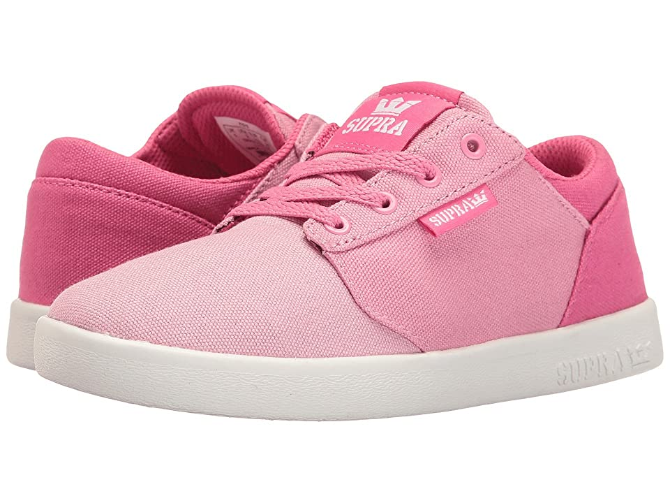 Supra Kids Yorek Low (Little Kid/Big Kid) (Pink Fade/White) Girls Shoes