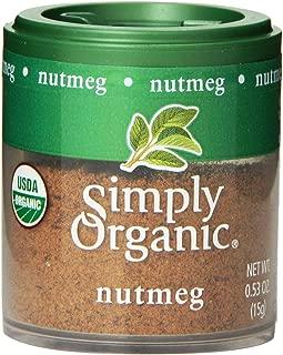 Simply Organic Mini, Og, Nutmeg Ground, 0.53-Ounce (Pack of 6)