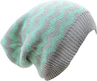 an Slouchy Beanie Hat Chevron Fashion Knit Cap Chic Zigzag Lightweight Unisex