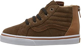 Vans Infant/Toddler Shoes SK8-Hi Top Zip Suede Brown (MTE) Potting Soil Fashion Sneakers