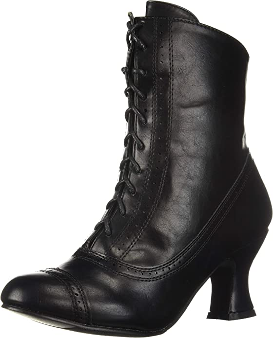 History of Victorian Boots & Shoes for Women Ellie Shoes Womens 253-sarah Mid Calf Boot  AT vintagedancer.com