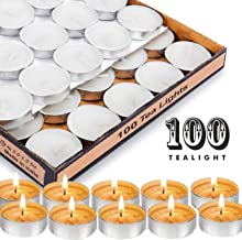 ENJOY Wax Tealight Candles (10 g, White, 4 Hours Burn Time) - Pack of 100