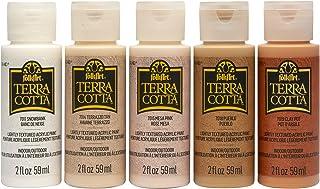 FolkArt, Essentials Terra Cotta Set of 5, 2 fl oz Assorted Matte Finish Colors, Drawing & Art Supplies, DIY Arts and Craft...