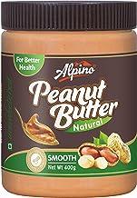 Alpino Natural Peanut Butter Smooth 400 G (Unsweetened / Gluten Free / Non-GMO / Vegan)