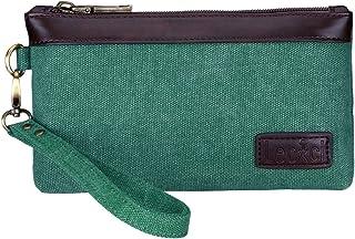 Lecxci Women's Canvas Smartphone Wristlets Bag, Clutch Wallets Purses for iPhone 6S / 7 Plus / 8 Plus/X