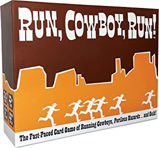 Run, Cowboy, Run! - The Fast-Paced Card Game of Running Cowboys, Perilous Hazards ... and Gold! - Ages 10+, Family Friendl...
