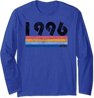 23rd Birthday Gift Retro Born in April of 1996 T-Shirt