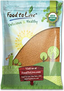 Organic Mustard Seeds, 5 Pounds - Whole Yellow Seeds, Non-GMO, Kosher, Raw, Dried, Hot Spice, Bulk