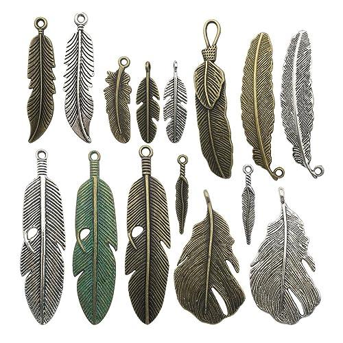 HOUSWEETY 50 Silver Plated Bird Charm Pendants 16x13mm