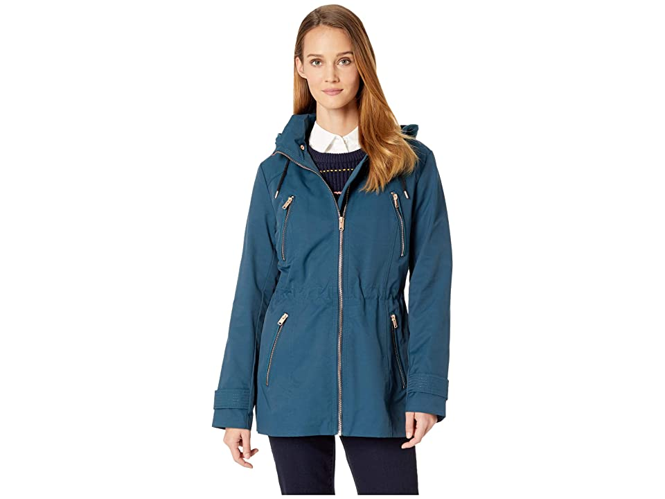 Marc New York by Andrew Marc Raincoat Anorak w/ Detachable Hood (Teal) Women