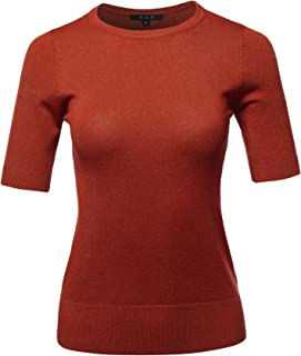 A2Y Women's Basic Casual Colorful 3/4 Sleeve Knit Pullover Sweator Top (S - XL)