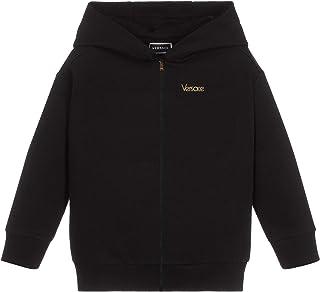 Versace Joven impresión de Logotipo inverso Hoodie