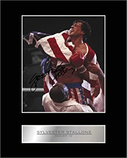 iconic pics Sylvester Stallone Signed Mounted Photo Display Rocky IV