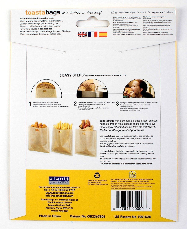 Schwarz 32/cm Doppel-Pack Toastabags Pizza-Gitter