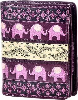 Women's Small Vegan Faux Leather Wallet With Inside Zipper Pocket
