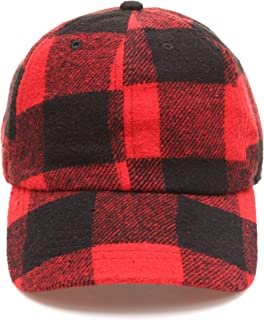 MIRMARU Men's Wool Blend Baseball Cap with Adjustable Size Strap