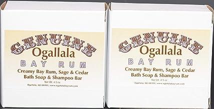 product image for Two (2) Genuine Genuine Ogallala Bay Rum, Sage & Cedar Bath Soap/Shampoo Bar – 4.5 oz Each