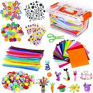 Vacoulery Kits d'artisanat Bricolage Set pour Enfants, Cure Pipe Cleaners Crafts Set Tiges de Fils Chenille Autocollant Pa...