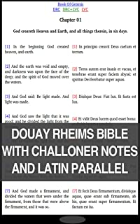 Douay-Rheims-Challoner || Latin Vulgate Clementine: 2000 Footnotes+Parallel English Latin+Verse to Verse Link System (VVLS)