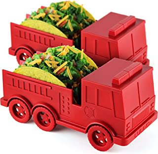LULIND - Fire Truck Taco Holder for Kids, Novelty Taco Stand (2 Pack)