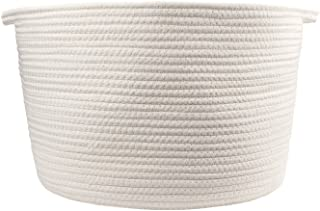 Orino Cotton Rope Storage Baskets with Handles 15x10Large Off White