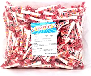 CrazyOutlet Pack - Smarties Fun Size Candy Rolls Bulk Pack, Original Flavor, Individually Wrapped, Gluten‑free Vegan, 4 lbs