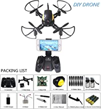 DIY Mini RC Toy Quadcopter Battle Drone Set Building Kit With FPV HD Camera RTF Helicopter For Kids with Extra Battery and Battery for Remote Controller