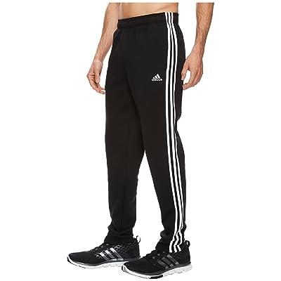 adidas Essentials 3S Tapered Fleece Pants (Black/White) Men