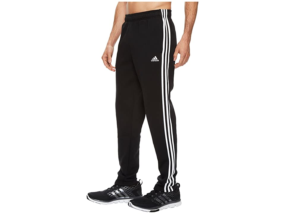 adidas Essentials 3S Tapered Fleece Pants (Black/White) Men