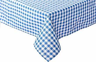 TextilDepot24 Nappe de table à carreaux style maison de campagne - Couleur et taille au choix - 100 % coton (110 x 220 cm,...