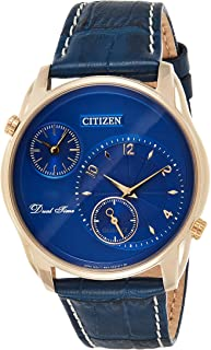 Citizen Mens Quartz Watch, Analog Display and Leather Strap - AO3033-00L