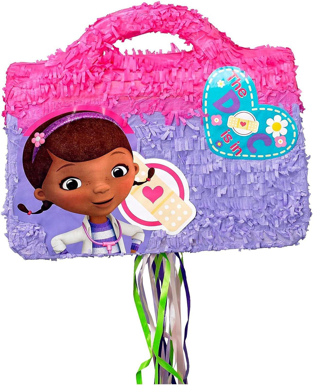 Disney Genuine Free Shipping Max 66% OFF Junior Doc McStuffins Doctor 3D Pull-String Pinata Bag