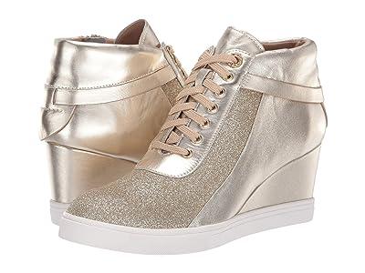 LINEA Paolo Freja Wedge Sneaker (Gold) Women