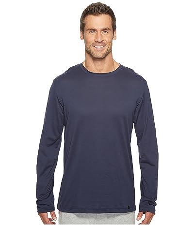 Hanro Night and Day Long Sleeve Shirt (Black Iris) Men