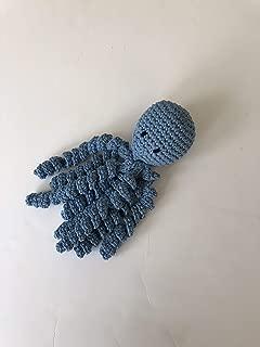 Crochet Octopus for Preemies, Crochet Octopus for Babies in Light Blue, Crochet Amigurumi