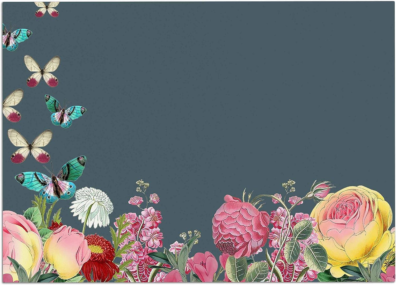 KESS InHouse SC2215ADM02 Suzanne Carter Summer Garden 2  Pink Teal Dog Place Mat, 24  x 15