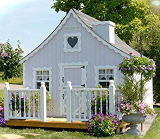 Little Cottage Company Gingerbread DIY Playhouse Kit, 8' x 10'