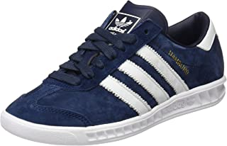 adidas Originals Hamburg Mens Leather Trainers/Shoes - Navy