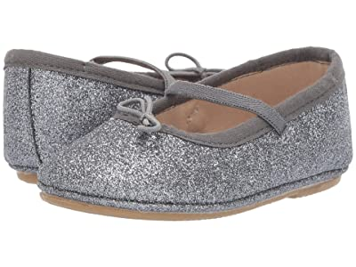 Old Soles Cruise Ballet Flat (Toddler/Little Kid) (Glam Gunmetal) Girls Shoes