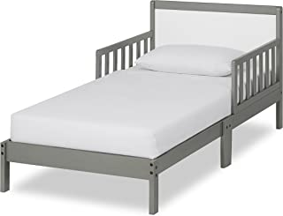 Dream On Me Brookside Toddler Bed, Steel Grey/White