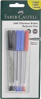 Faber-Castell 5500144010 F.C. 10 Tükenmez 1440 Krş.Renk (5M+3S+2K)