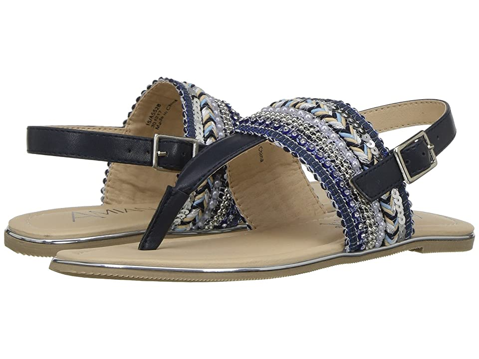 Amiana 15-A5528 (Toddler/Little Kid/Big Kid/Adult) (Navy Sequins Casual PU) Girl