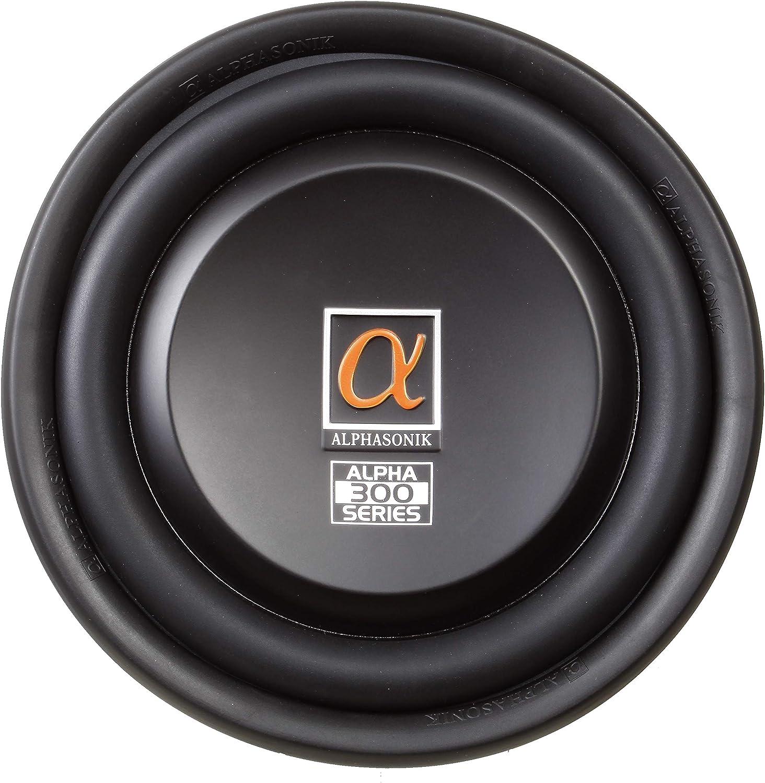 "500 Watts RMS Single 4 Ohm Car Low Profile Flat Slim Thin Subwoofer Aluminum Cone Audio Speaker Bass Truck High Power Sub Woofer Alphasonik TSW312 Treis 300 Series Shallow Mount 12/"" 1500 Watts Max"