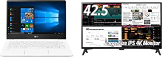 LG 4Kモニター 43UD79T-B 42.5インチ+ LG gramノートパソコン13インチ13Z990-GA54Jセット