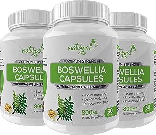 Natureal Boswellia Serrata Shalaki Extract 800 Mg Capsules For Bones & Joints Health - 180