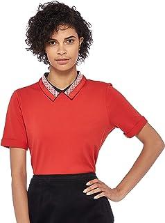 Tommy Hilfiger Women's Ww0Ww22328-Red Polos