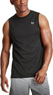 Mission Men's VaporActive Alpha Sleeveless T-Shirt, Moonless Night, Large
